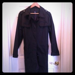 Classic black belted trench coat